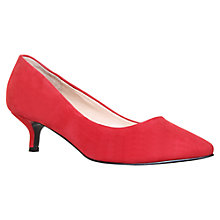 Buy Nine West Runit Suede Kitten Heel Court Shoes Online at johnlewis.com