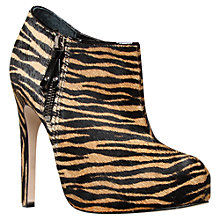 Buy Carvela Start Pony Tiger Print Ankle Boots, Tan Online at johnlewis.com