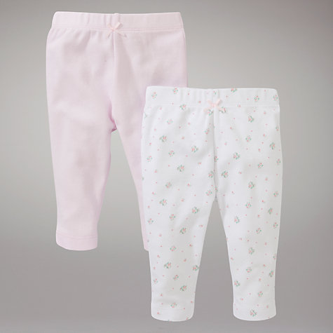 Buy John Lewis Baby Bottoms, Pack of 2, White/Pink Online at johnlewis.com