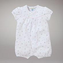 Buy John Lewis Baby Layette Romper, Pink Online at johnlewis.com