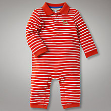 Buy John Lewis Baby Striped Footless All In One Online at johnlewis.com