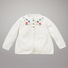 Buy John Lewis Baby Vintage Floral Cardigan, Cream Online at johnlewis.com