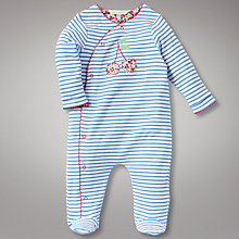 Buy John Lewis Baby Vintage Cherry Stripe All In One Online at johnlewis.com