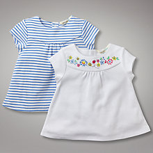 Buy John Lewis Baby Vintage Floral and Striped Tops, Pack of 2 Online at johnlewis.com