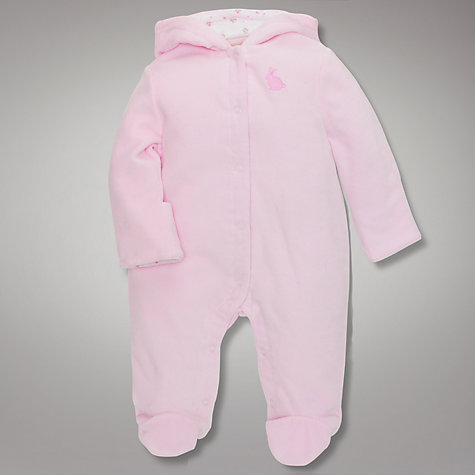 Buy John Lewis Baby Wadded Velour All In One Online at johnlewis.com