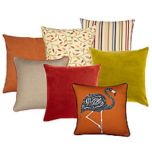 Burnt Orange and Citrus Cushion Collection
