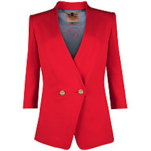 Buy Ted Baker Double Button Front Blazer, Red Online at johnlewis.com