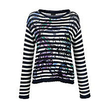 Buy Gerry Weber Chunky Striped Jumper, Print Online at johnlewis.com