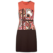 Buy Betty Barclay Aztec Dress, Red/Camel Online at johnlewis.com