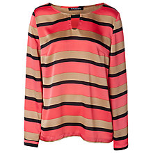 Buy Betty Barclay Stripe Blouse, Red/Camel Online at johnlewis.com