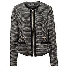 Buy Betty Barclay Tweed Jacket, Black/Camel Online at johnlewis.com