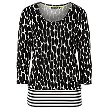 Buy Betty Barclay Pebble Print Top, Natural/Black Online at johnlewis.com