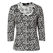 Buy Betty Barclay Splodge Print Top, Natural/Black Online at johnlewis.com