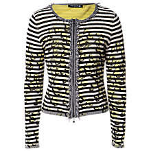 Buy Betty Barclay Fringed Jacket, Black/Natural Online at johnlewis.com