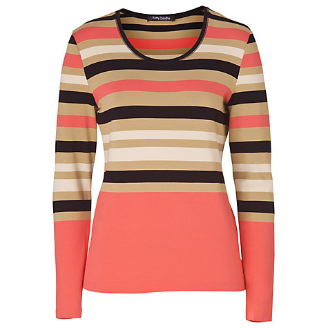 Buy Betty Barclay Striped T-Shirt, Red/Camel Online at johnlewis.com
