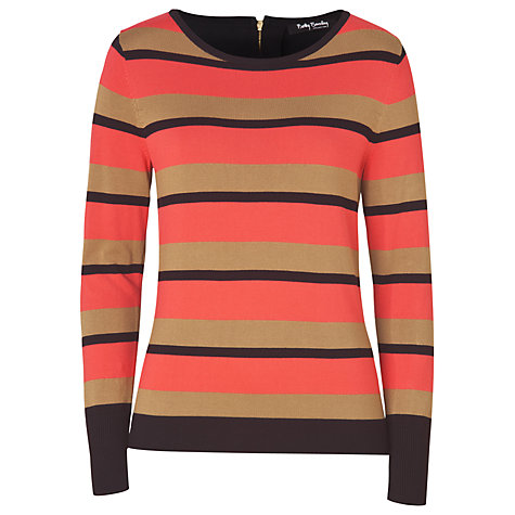 Buy Betty Barclay Striped Jumper, Red/Black Online at johnlewis.com
