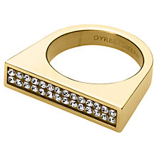 Buy Dyrberg/Kern Tatyana Crystal Set Statement Ring, Gold Online at johnlewis.com