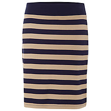 Buy Betty Barclay Jersey Stripe Skirt, Dark Blue/Camel Online at johnlewis.com