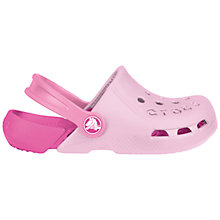 Buy Crocs Kids Electro Clogs, Bubblegum Online at johnlewis.com