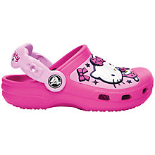 Buy Crocs Hello Kitty Sandals, Magenta Online at johnlewis.com