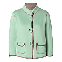 Buy Betty Barclay Reversible Jacket, Green/Taupe Online at johnlewis.com