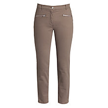 Buy Betty Barclay Slim Cropped Jeans, Dusty Brown Online at johnlewis.com