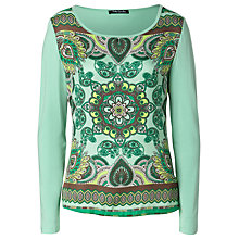 Buy Betty Barclay Scarf Print Top, Green/Taupe Online at johnlewis.com