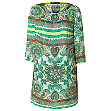 Buy Betty Barclay Paisley Tunic Dress, Green/Taupe Online at johnlewis.com