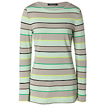 Buy Betty Barclay Striped Top, Green/Taupe Online at johnlewis.com