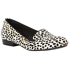 Buy Bertie Lavanda Pony Studded Loafers, Black / White Online at johnlewis.com