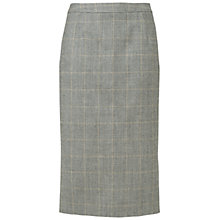 Buy Jaeger Check Split Skirt, Charcoal Online at johnlewis.com