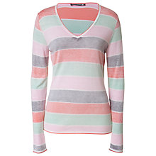 Buy Betty Barclay Striped Jumper, Grey/Apricot Online at johnlewis.com
