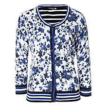 Buy Betty Barclay Roundstar Cardigan, White/Blue Online at johnlewis.com