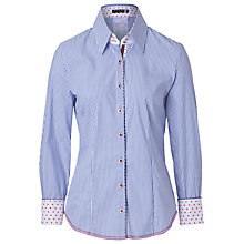 Buy Betty Barclay Tailored Shirt, White/Blue Online at johnlewis.com