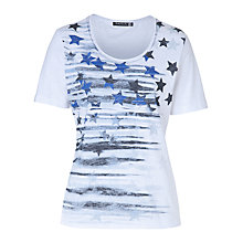 Buy Betty Barclay Star Print T-Shirt, White/Blue Online at johnlewis.com