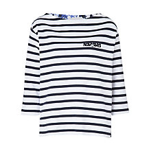 Buy Betty Barclay Striped Boat Neck Top, White/Dark Blue Online at johnlewis.com