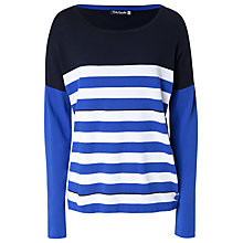 Buy Betty Barclay Dolman Jumper, Blue/White Online at johnlewis.com