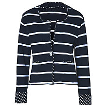 Buy Betty Barclay Star Stripe Jacket, Dark Blue/White Online at johnlewis.com