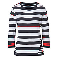 Buy Betty Barclay Stripe Zip Shoulder Jumper, Blue/Red Online at johnlewis.com