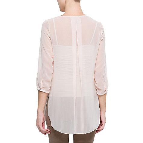 Buy Mango Pleated Sheer Blouse Online at johnlewis.com