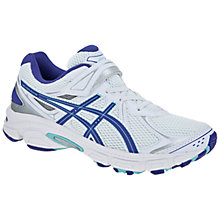 Buy Asics Gel Galaxy PS Trainers, White/Purple/Silver Online at johnlewis.com