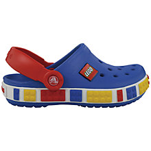 Buy Crocs Kids' Lego Sandals, Sea Blue Online at johnlewis.com