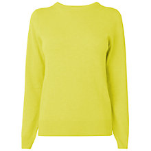 Buy Jaeger Cashmere Jumper, Bright Yellow Online at johnlewis.com