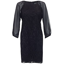 Buy Adrianna Papell Lace and Chiffon Dress, Black Online at johnlewis.com