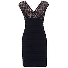 Buy Adrianna Papell Lace Banded Dress, Black Online at johnlewis.com