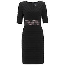 Buy Adrianna Papell Lace Waist Dress, Black Online at johnlewis.com