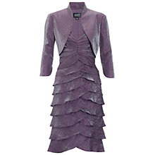 Buy Adrianna Papell Shutter Bolero Dress, Prune Online at johnlewis.com