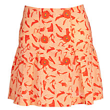 Buy NONO Shoe Print Skirt, Orange Online at johnlewis.com