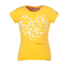 Buy NONO Heart Shoes T-Shirt, Yellow Online at johnlewis.com