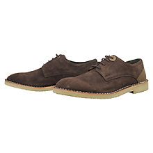 Buy Barbour Bolingbroke Suede Derby Shoes, Brown Online at johnlewis.com